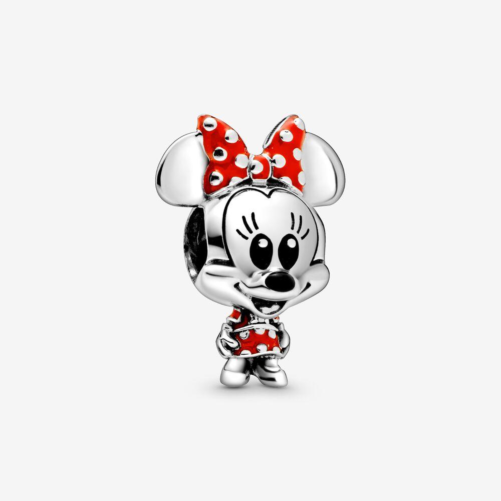 Charm Donna Pandora Disney Minnie Con Abito E Fiocco A Pois
