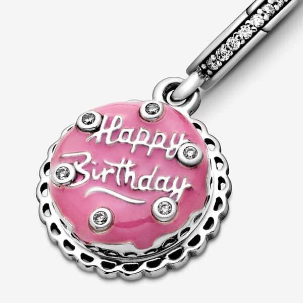 Charm Pandora Donna Torta Di Compleanno Rosa