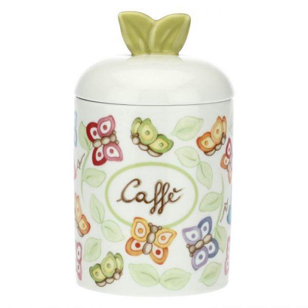 Thun Barattolo Porta Caffè In Porcellana Farfalle In Festa