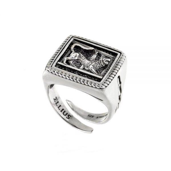 Anello Unisex Ellius Jewelry Chimera Quadrato