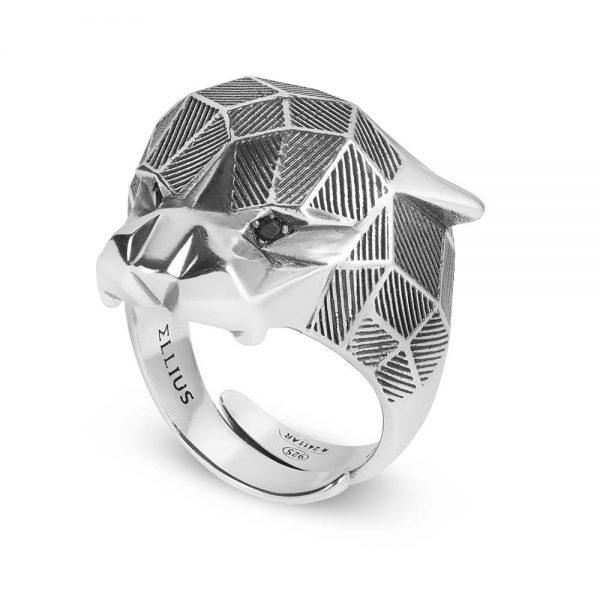 Anello Uomo Ellius Jewelry Pantera Sfaccettato