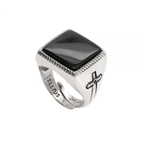 Anello Unisex Ellius Jewelry Gemma Quadrato