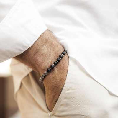 Bracciale Uomo Ellius Jewelry Globo Terrestre Argento