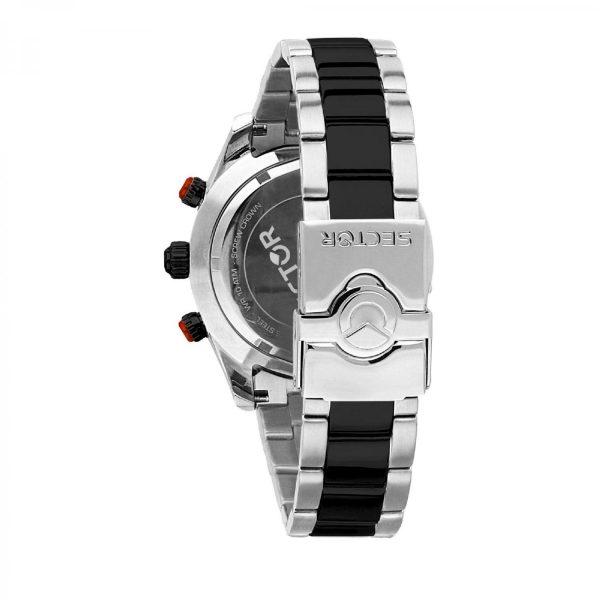 Orologio Uomo Sector 330 Collection Cronografo 45mm Nero