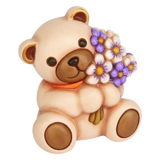 Teddy Con Mazzo Di Fiori Maxi
