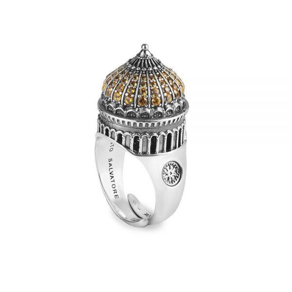 Anello Donna Ellius Jewelry Cupola Cristo Salvatore Mosca