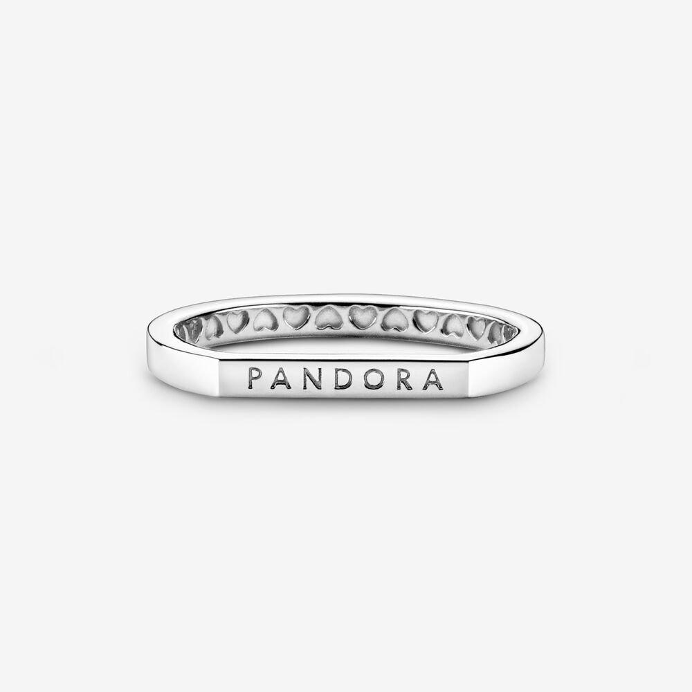 Anello Donna Pandora Componibile Barretta E Logo