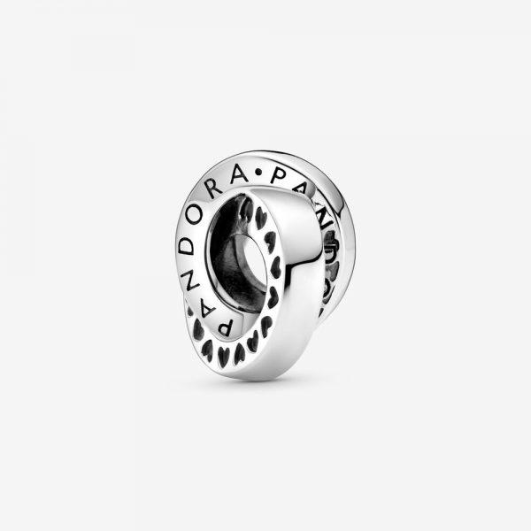 Charm Donna Pandora Distanziatore Con Logo E Fasce Con Cuori