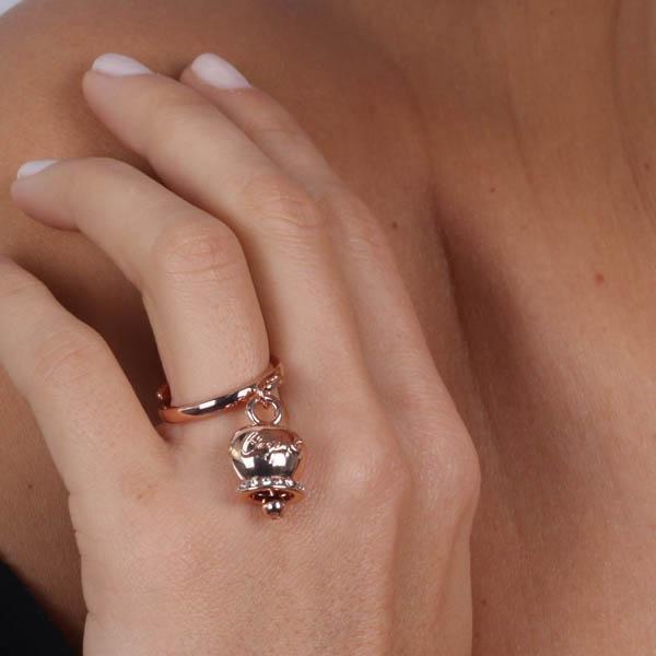 Anello Donna Bysimon Capri Collection Campanella Rosé Con Cristalli