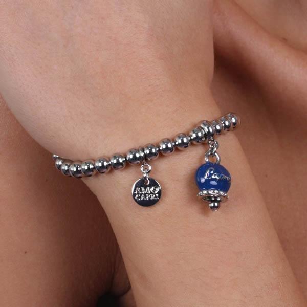 Bracciale Donna Bysimon Capri Collection Campanella Silver Smaltata Blu e Sfere