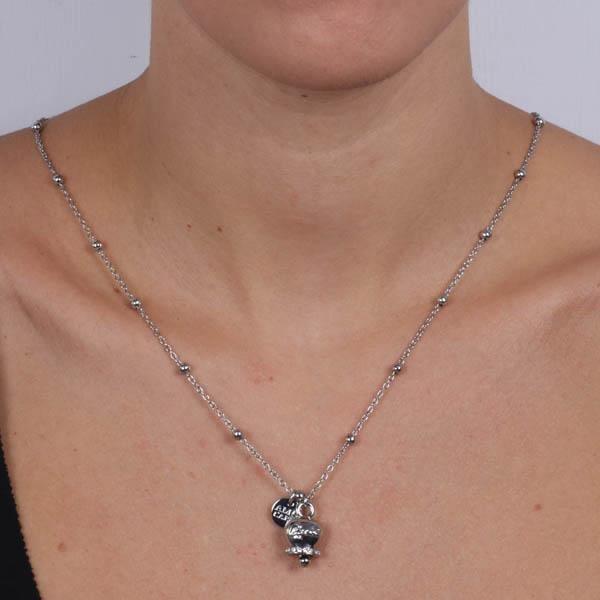 Collana Donna Bysimon Capri Collection Campanella Silver Con Cristalli