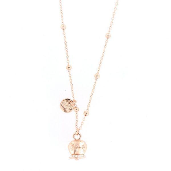 Collana Donna Bysimon Capri Collection Campanella Rosé Con Cristalli