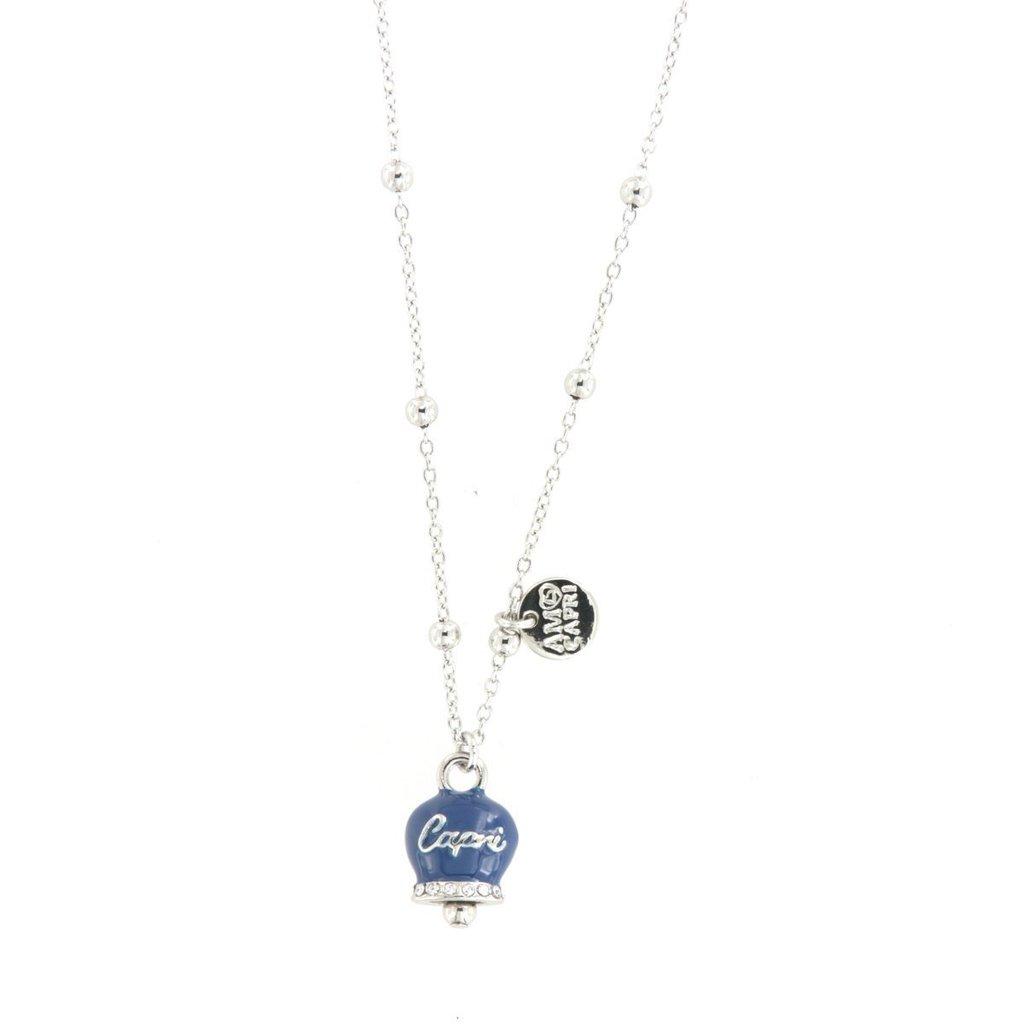 Collana Donna Bysimon Capri Collection Campanella Silver Smalto Blu