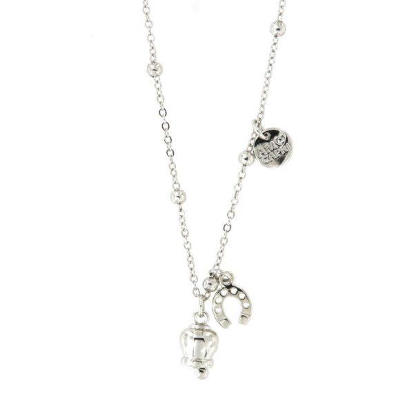 Collana Donna Bysimon Capri Collection Campanella Silver E Ferro di Cavallo