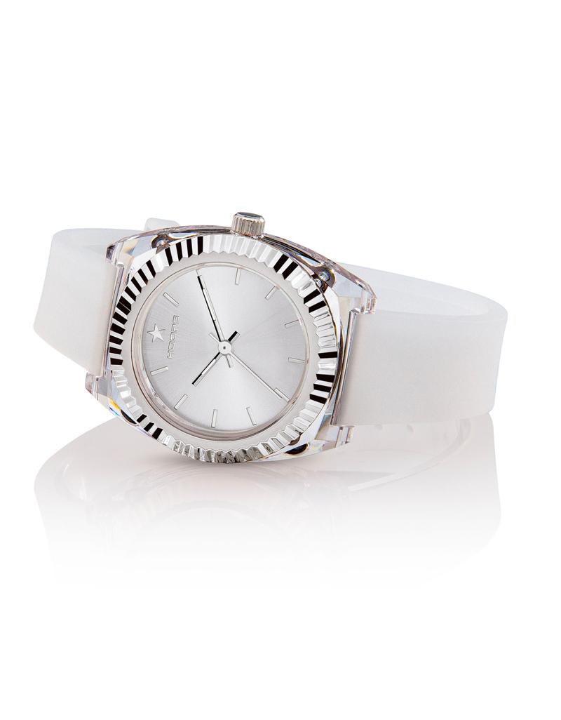 Orologio Hoops Donna Saint Tropez Bianco Quadrante Silver