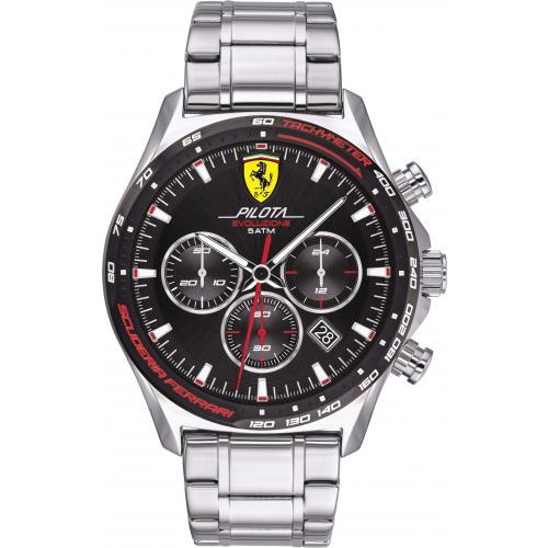 Orologio Uomo Ferrari Pilota Evo Cronografo 44mm Acciaio