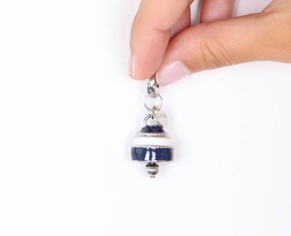 Charm Donna Bysimon Capri Collection Campanella Smalto Blu Bianco