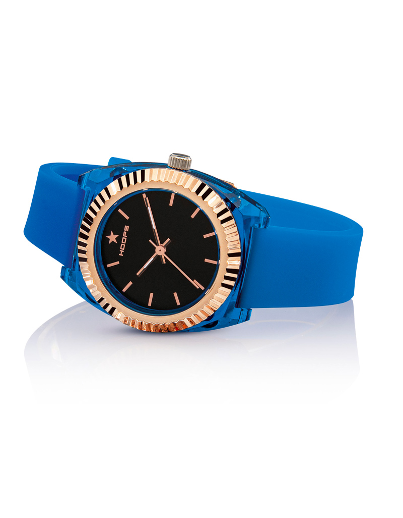 Orologio Hoops Donna Saint Tropez Blu Quadrante Nero