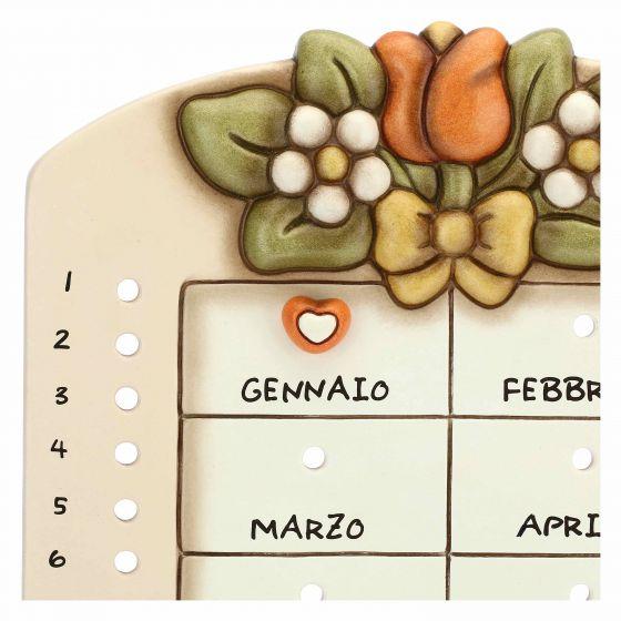 Thun Calendario perpetuo da parete in ceramica Country con coccinella portafortuna