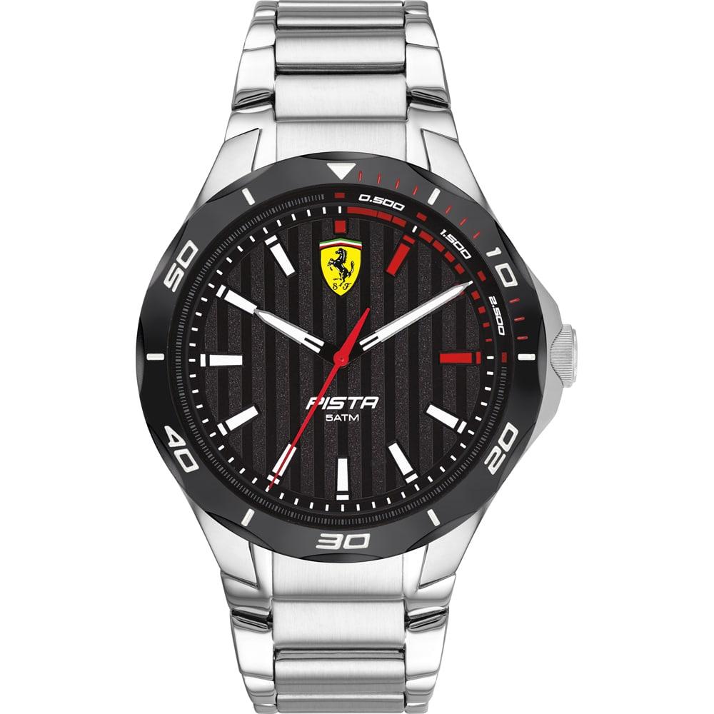 Orologio Uomo Ferrari Pista 44mm Acciaio Quadrante Nero