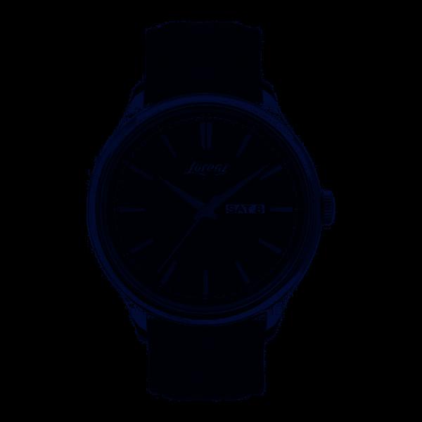 Orologio Uomo Lorenz Classic Style 40mm Day Date Pelle Nero